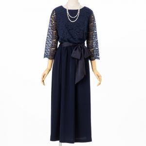 Select Shop 【授乳マタニティ】ブラウジングレース切替ドレス