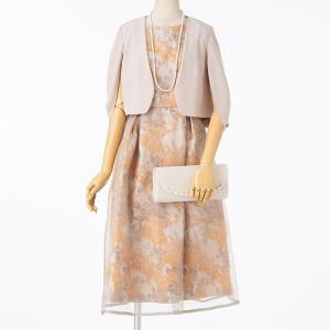 Select Shop フラワージャガードオーガンジードレス