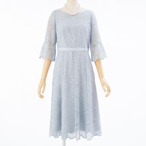 ANAYI アナイ ライトケミカルフラワーレースドレス