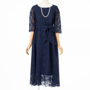 Select Shop 【授乳マタニティ】総レースロングドレス