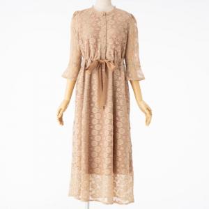 Select Shop 【授乳マタニティ】マーガレットドット総レース7分袖ドレス
