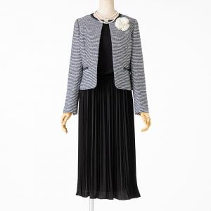 any FAM 【スーツ2点SET】エニィファム ジャケット+ワンピース ネイビー×ブラック/M