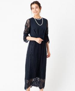 Aimer エメ パネルレースセミタイトドレス
