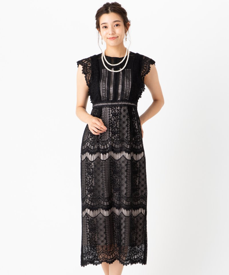 Select Shop ウェーブレースドレス